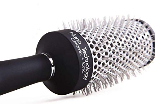 Professional Round Hair Brush For Blow Drying & Straightening Long Hair -...