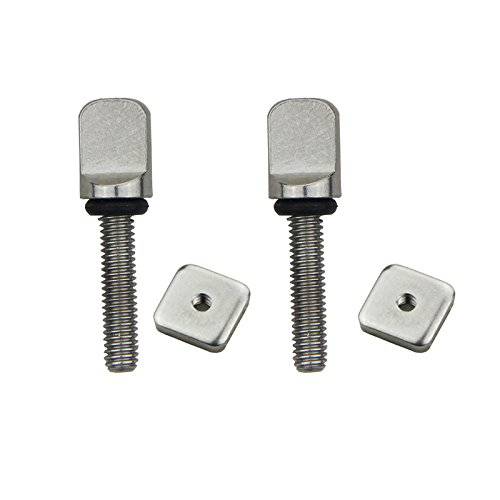 DORSAL® Stainless Surf Thumb Fin Screw and Plate Surfboard Longboard Bag of 5/Universal