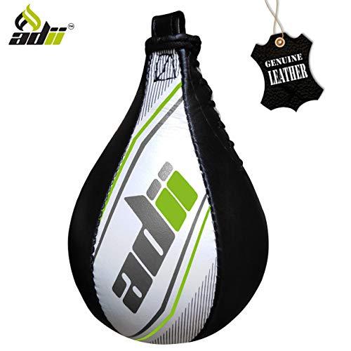 "ADii "" Rapid "" Skin-TXT Leather Boxing Speed Bag | Speed Ball MMA Punching Training Dodge..."