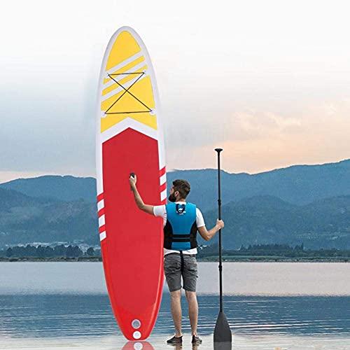 Gaoweipeng Tabla Paddle Surf Hinchable Stand Up 6 Inches Thick Accesorios y Mochila Sup, Bolsa Seca, Asiento de Kayak Ajustable, Aleta Grande, Correa, Remo y Bomba, Bote de pie para jóvenes y Adultos
