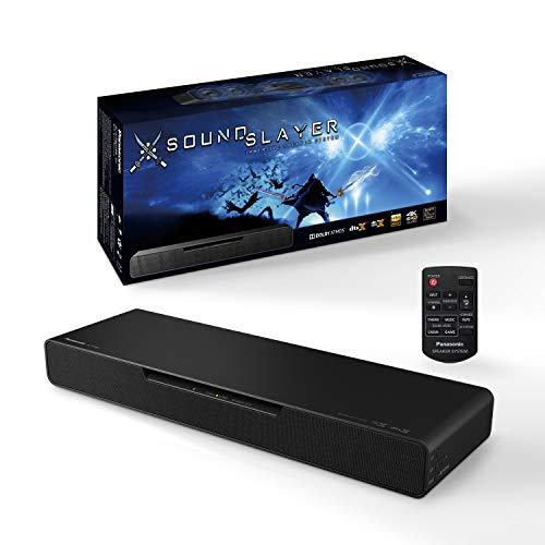 Panasonic SC-HTB01 Pc Gaming Speaker, Subwoofer Integrato SOUNDSLAYER, 80W, Surround 2.1 ch, Dolby Atmos, DTS:X, 4K HDR Pass Through, 3 Modalità Audio di Gioco, Nero