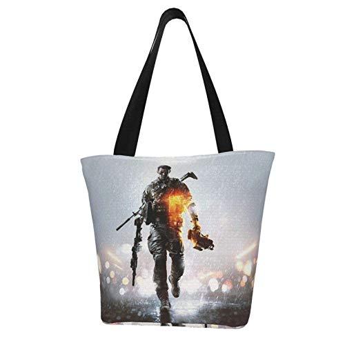 Battlefield SciFi Game Umhängetasche Frau Einkaufstasche Große lässige Handtasche Leichte Umhängetaschen für Reisen im Freien Einkaufen Lebensmittel, Schulranzen Geschenke Mädchen/Frauen/Freunde