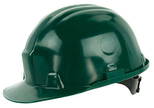 Reis Arbeitsschutzhelm EN397 CAT III | Schutzhelm ideal für die Baustelle oder Handwerker | Bauarbeiterhelm aus hartem HDPE | Arbeitshelm mit 6-Punkt-Aufhängung | Helm grün