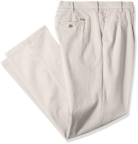 IZOD Men's Big and Tall Performance Stretch Pleated Pant, Warm Pearl, 46W X 34L