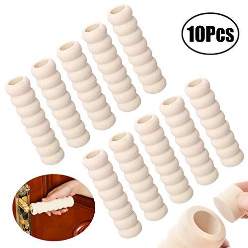 Lvcky Türgriff-Schutz, 10 Stück, weicher Schaumstoff, für Kinder und Babys, Beige
