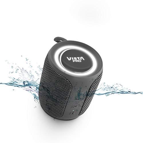 Altavoz Easy 2 de Vieta Pro, con Bluetooth 5.0, True Wireless, Micrófono, Radio FM, 12 Horas de autonomía, Resistencia al Agua IPX7 y botón Directo al Asistente Virtual; Acabado en Color Gris Plomo