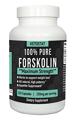 120ct Potent Forskolin Extract for Weight Loss Fat Burner Aid | Forskolin Capsules Made from High Quality Coleus Forskohlii Root Extract for Fat Loss and Appetite Suppressant