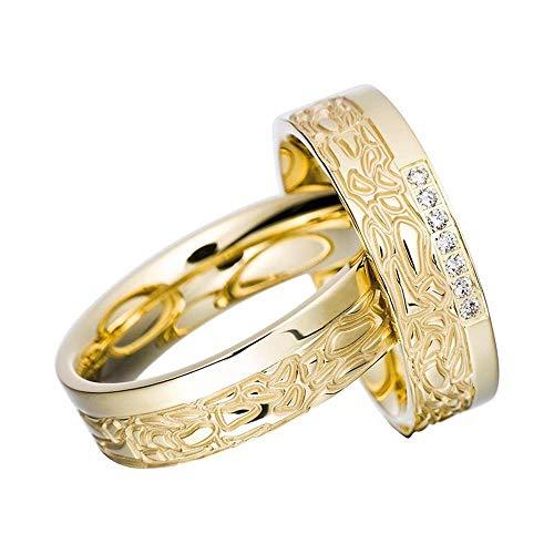 CORE by Schumann Design Trauringe Eheringe aus 585 Gold (14 Karat) Gelbgold mit echten Diamanten GRATIS Testringservice & Gravur 19019254