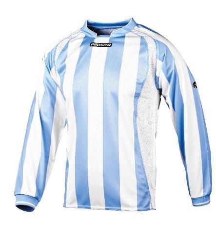 "Prostar Avellino - Camiseta de fútbol, tamaño 38-40"", Color Azul/Blanco"