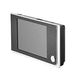 Digital Timbre Video Puerta, Mini HD Pantalla LCD a Color de 3.5 Pulgadas de Alto Píxel Video Visual, 120 Grados ángulo de Visión Súper Amplio, 24 Horas Vigilancia Timbre Digital para Interiores