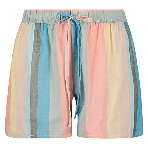 HUNKEMÖLLER Damen Gestreifte Pyjama-Shorts Rose M