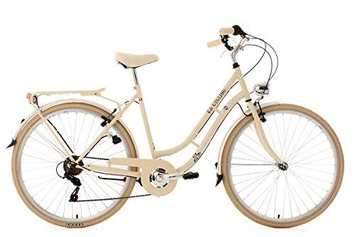 KS Cycling Damenfahrrad Cityrad 28'' Casino beige 6Gänge RH53cm