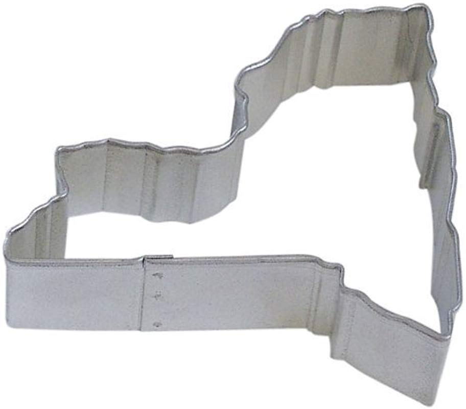 State Of New York Tin Cookie Cutter 3 5