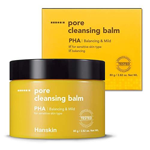 Hanskin PHA Pore Cleansing Balm, Gentle Blackhead Cleanser and Makeup Remover for Sensitive Skin [PHA/2.82 oz]