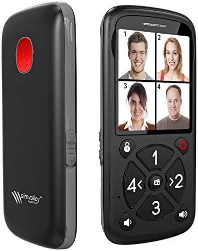 simvalley MOBILE Notfallhandy: 5-Tasten-Senioren- und Kinder-Handy mit Garantruf Premium, LED & Radio (Kinder Notfallhandy)