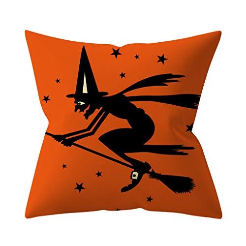 Sunnsean - Funda de cojín para sofá, decoración del hogar para Halloween, H