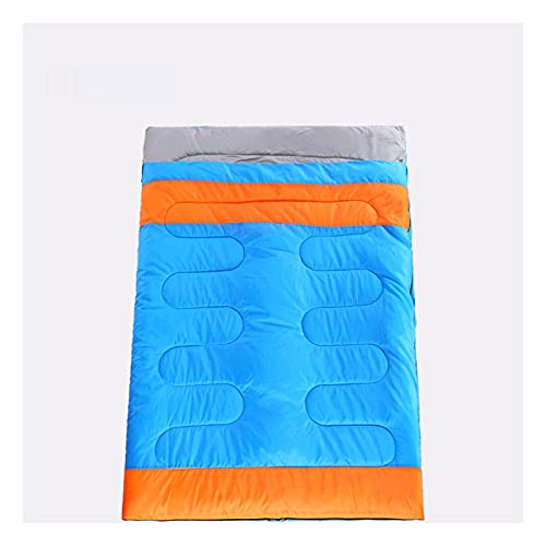 MPGIO 3 en 1 Saco de Dormir para Dos Personas Camping al Aire Libre Saco de Dormir para Adultos Amante Pareja Viaje Clima cálido Uso Saco de Dormir(Color:B)