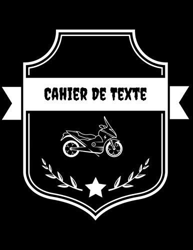 Cahier De Texte: Thème moto cross pour la rentrée Scolaire | cahier de devoir | format pratique pour les cartables. Taille 21.59 x 27.94 cm 121 Pages