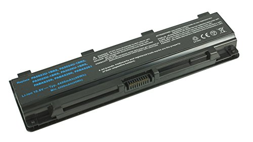 PowerSmart® 10,80V 4400mAh Batterie pour Toshiba Satellite C840, C845, C850, C855, C870, C875, L70 Serien PA5024U-1BRS, PA5025U-1BRS, PABAS259, PABAS260
