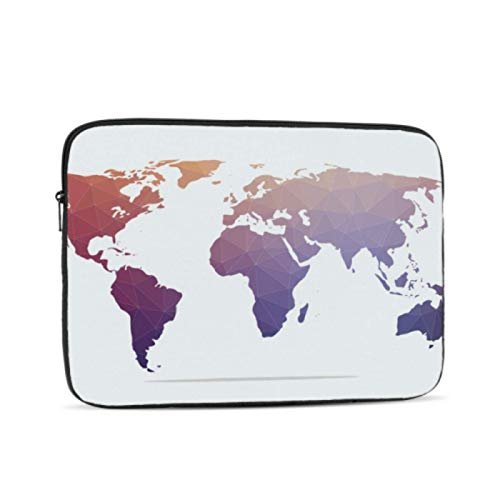 Case for Mac Brown Abstract World Map MacBook 15 Case Multi-Color & Size Choices 10/12/13/15/17 Inch Computer Tablet Briefcase Carrying Bag