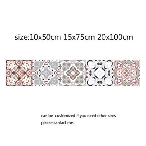 Coner Arabische Retro Tegelstickers Voor Keuken Badkamer Zelfklevende Muurstickers Woonkamer Decor Behang Waterdicht, 2,15x75cm