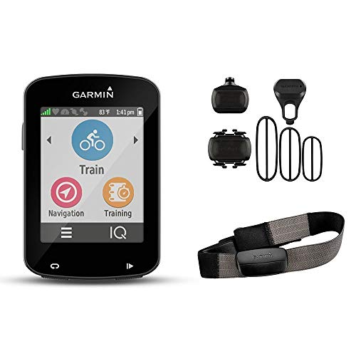 Garmin Edge 820 Bundle Ordenador para Bicicletas, Negro