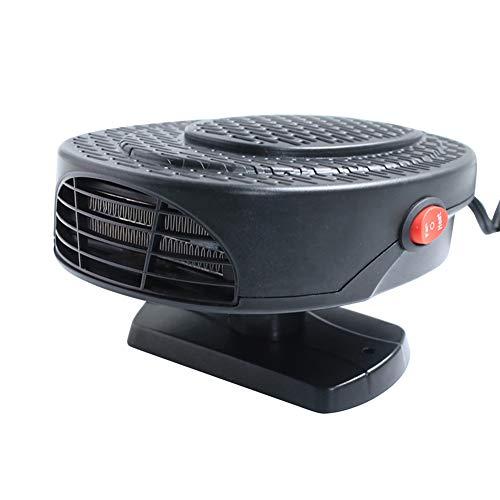 sakulala 12V-beweglicher Auto-Heizlüfter Defroster, Auto Heizlüfter Winter-Automobil-Windschutzscheibe Heizlüfter Defroster für In-Car-Camping und Caravaning