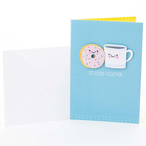 Hallmark Signature Anniversary Card (Coffee and Doughnut)