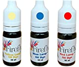 Firefly Colored Lamp Oil and Candle Dye 3-Pack | Create Yellow, Green, Red, Blue Lamp Oil | Use in Liquid, Smokeless, Odorless Paraffin Lamp Oil
