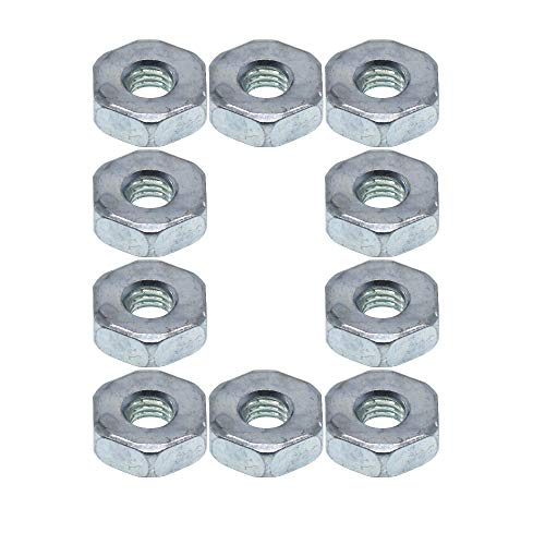 QHALEN Replacement 10Pcs Bar Nuts for STIHL Chainsaw MS170 MS180 MS230 MS250 MS380 MS381 017 018 023 025