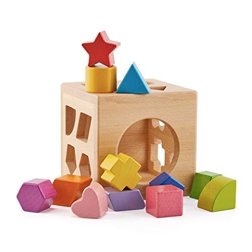 SY-Home Bloc École Maternelle de Jouets en Bois, Matching Shape Puzzle Formation motricité Fine pour Enfants bébé Enfants Tout-Petits Cadeaux
