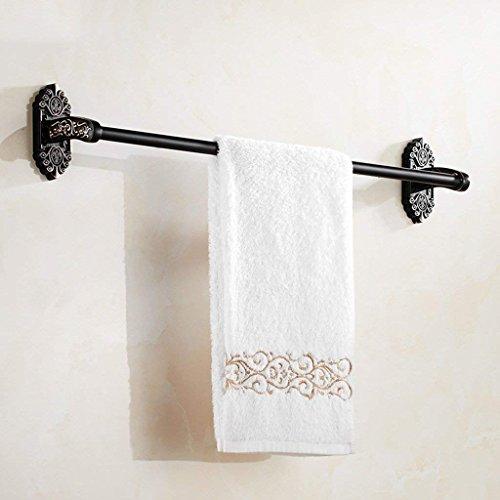 ZKAIAI Punch-Libre Toallero de Bronce Negro Barra de Toalla Toalla de Estilo Europeo de aleación Negro Estante WC Sola Antiguos toallero Multi-Capa de Almacenamiento