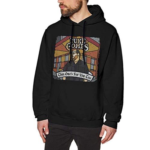 Eanijoy Beiläufiges langärmliges mit Kapuze Sweatshirt Khalid Sweatshirts for Men Hoodies Black