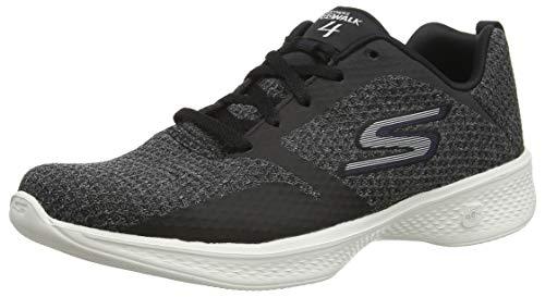 Skechers Go Walk 4-Desire, Zapatillas para Mujer, Negro (