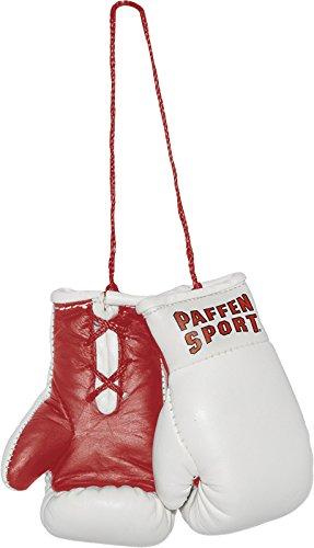 Paffen Sport Colour Mini Boxhandschuhe – Anhänger fürs Auto – weiß/rot