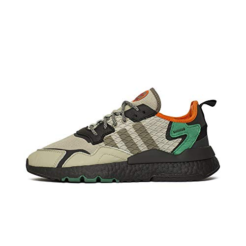 adidas Originals Nite Jogger, Sesame-Core Black-Bold Green, 10,5