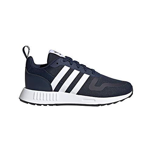 adidas Smooth Runner J, Zapatillas Deportivas, Collegiate Navy FTWR White Dash Grey, 38 2/3 EU