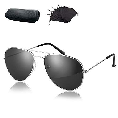 TOP&TOP Occhiali da sole da uomo alla guida, Occhiali da sole sportivi polarizzati, Occhiali da sole polarizzati classici per uomo per la guida in viaggio Con scatola e borsa per occhiali da sole