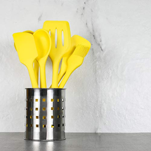 Chef Craft 5 Piece Silicone Kitchen Tool and Utensil Set, Yellow