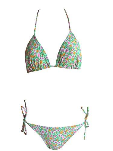 Solar Tan Thru Neckholder-Bikini grün, Gr. 38 B-Cup