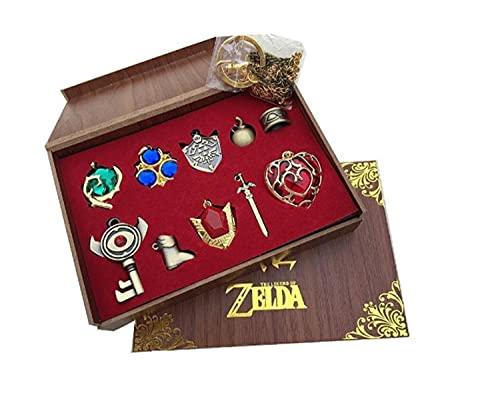 The Legend of Zelda Halskette Triforce Hylian Shield Master Sword Schlüsselanhänger, Twilight Princess, 10 Stück Gr. Einheitsgröße, 10 Stück/Set.