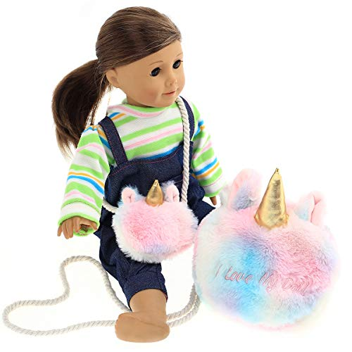 Party Zealot 2 Pack Purses Matching Set Accessories for Our Generation Doll, My Life Doll, 18 inch Doll, and American Girl Doll Birthday