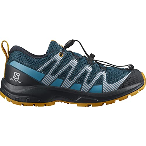 Salomon XA Pro V8 niños Zapatos de trail running, Azul (Legion Blue/Night Sky/Autumn Blaze), 36 EU
