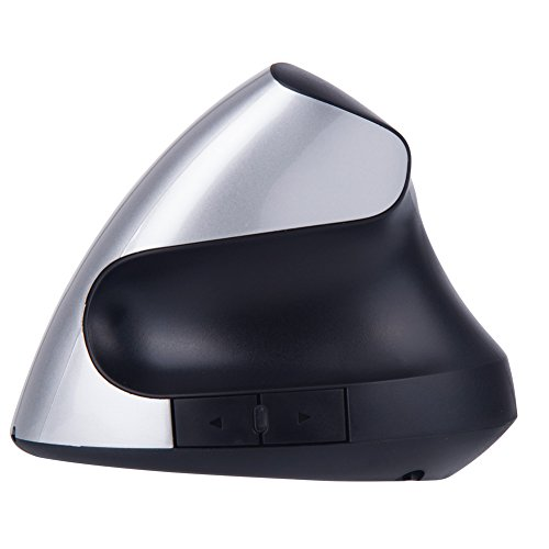EIGIIS Wireless Ergonomic Mouse 2.4G High Precision Vertical Optical Mouse(Silver)