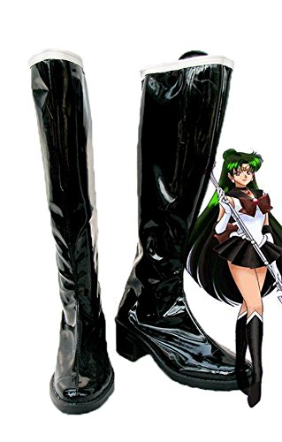 Telacos Sailor Moon Sailor Pluto Setsuna Meioh Cosplay Zapatos Botas Custom Made