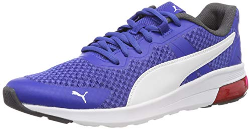 PUMA Unisex-Erwachsene Electron Fitnessschuhe, Blau (Surf The Web-Puma White-Asphalt-High Risk Red 07), 42 EU