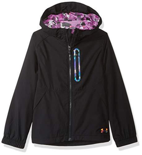 Under Armour Mädchen Girls RAIN Jacket Regenjacke, schwarz, Small