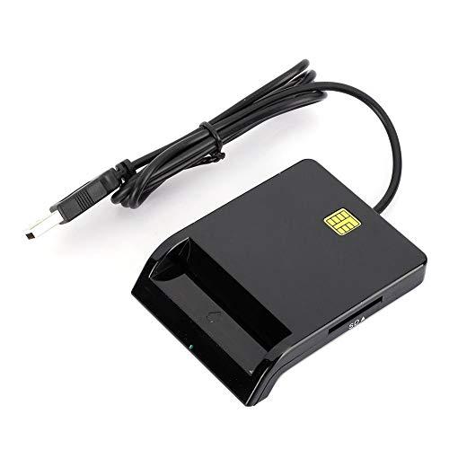 Pusokei Multifunktions-Smartcard-Leser, Externer Kartenleser für SD/TF/M2/MS/Bankkarte/ID-Karte/SIM-Karte, Kontakt-Smartcard für Laptop/PC