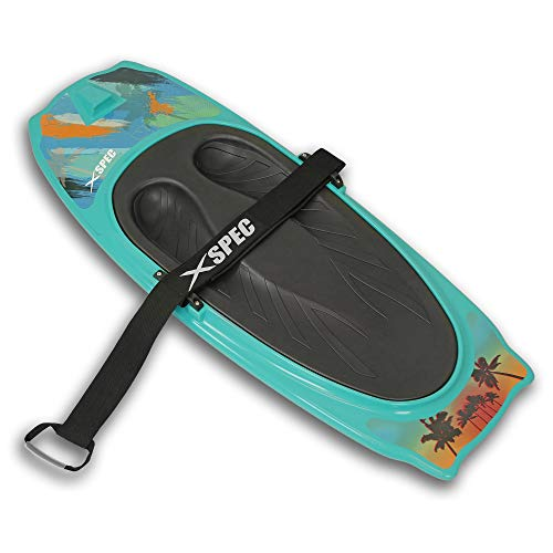 Xspec Kneeboard with Hook for Knee Surfing Boating Waterboarding with Padded Foam Surface, Aqua