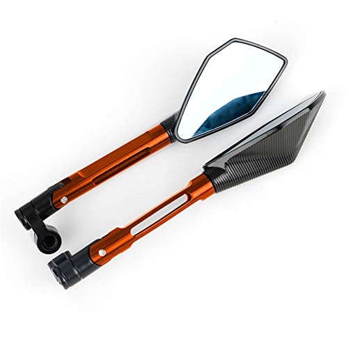 SSGLOVELIN Fit for Kawasaki Z900 Z800 Z750 Z1000 Rückspiegel Motorrad Rückspiegel Zubehör Z250 Z250R Z300 ER 6N Versys 1000 (Color : Orange)